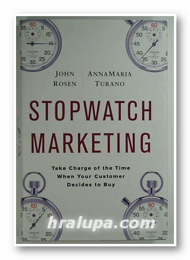STOPWATCH MARKETING, JOHN ROSEN, ANNAMARIA TURANO, New York 2008