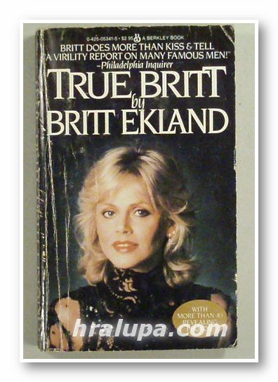 TRUE BRITT, by BRITT EKLAND, London 1980 г.